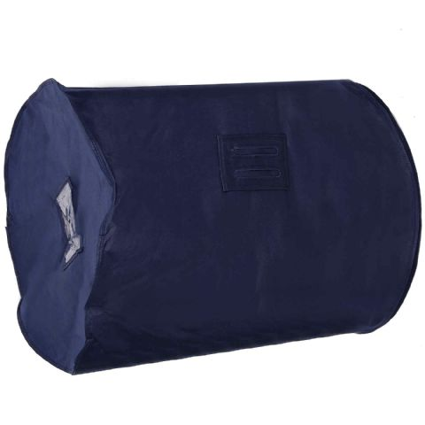 Navy Blue Breathable Feather Duvet Storage Bag & Carrier
